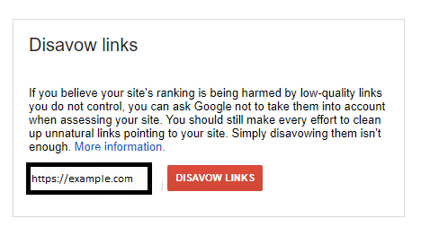 how to use google disavow tool