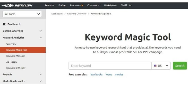 Keyword Magic Tool - Intro