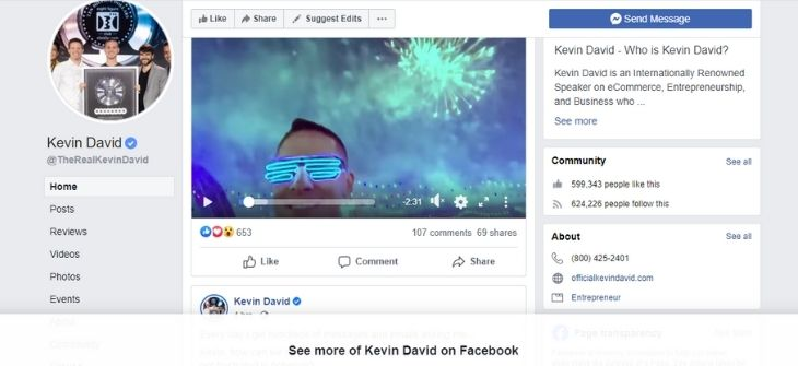Kevins Page - Facebook Ad Library