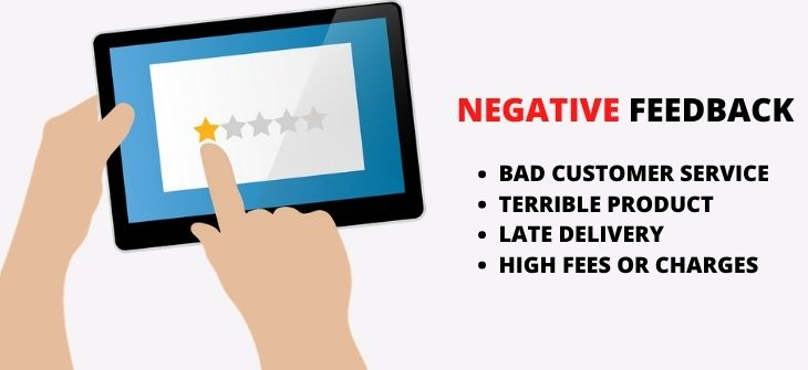 Negative Feedback or Comments