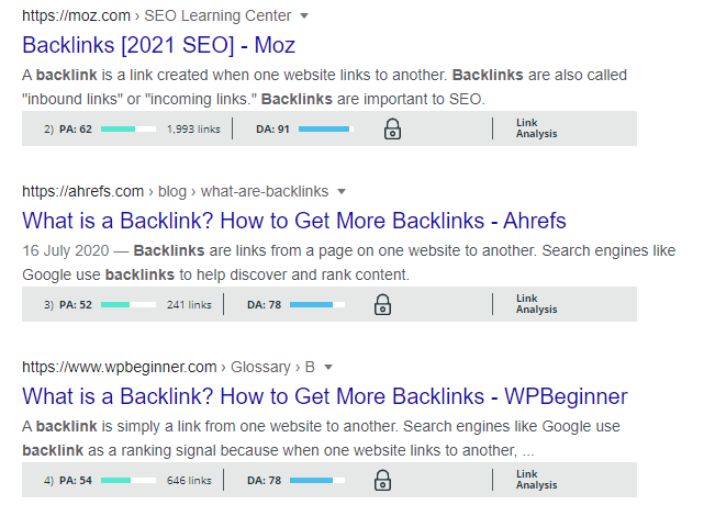 Backlinks on positron 2