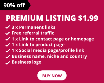 Premium Listing - Directory Submission Sites